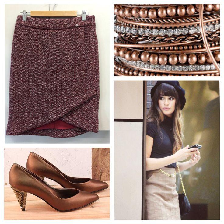 Chanel skirt, feels unworn. Size 8, $199.