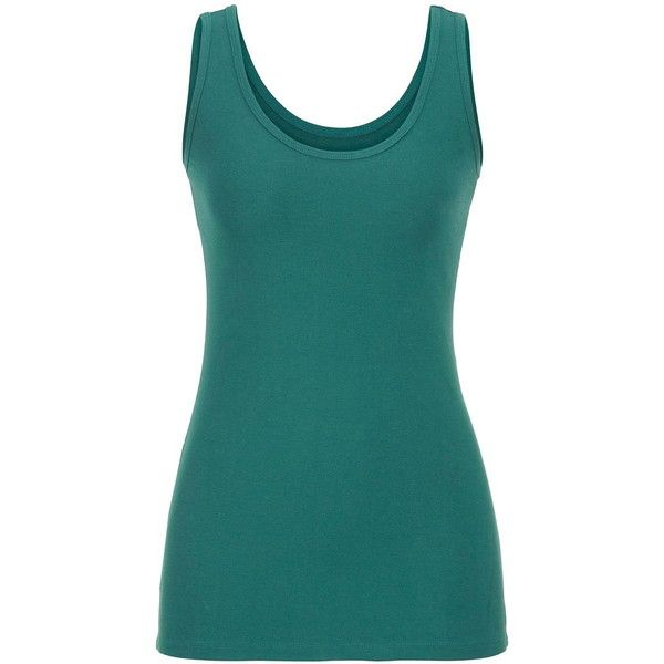 maurices Scoop Neck Tank ($15) ❤ liked on Polyvore featuring tops, shirts, mountain teal, teal shirt, neon blue shirt, neon tank, blue shirt and layering tank tops