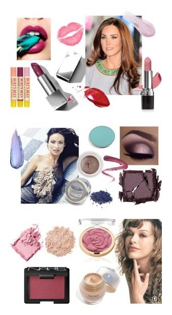 """Cool Summer Makeup"" by stylist-vera on Polyvore featuring summermakeup, coolsummer, coloranalysis, type2, beauty, Burberry, Avon, Burt's Bees, Lipstick Queen and rms beauty"