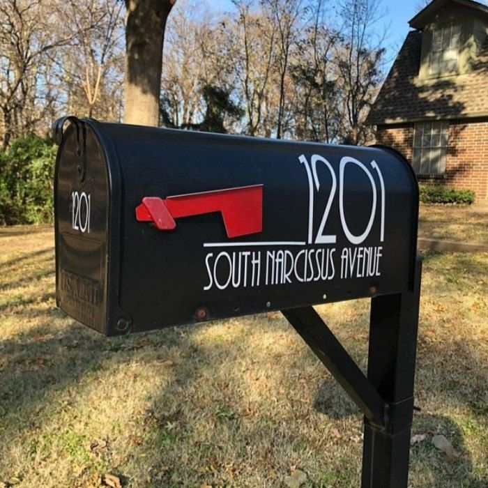 Modern Mailbox Numbers Modern Numbers For Mailbox Or Front Door Modern Vinyl Decal Numbers Mailbox Decals Mailbox Stickers House Number In 2020 Mailbox Decals Mailbox Numbers Diy Mailbox