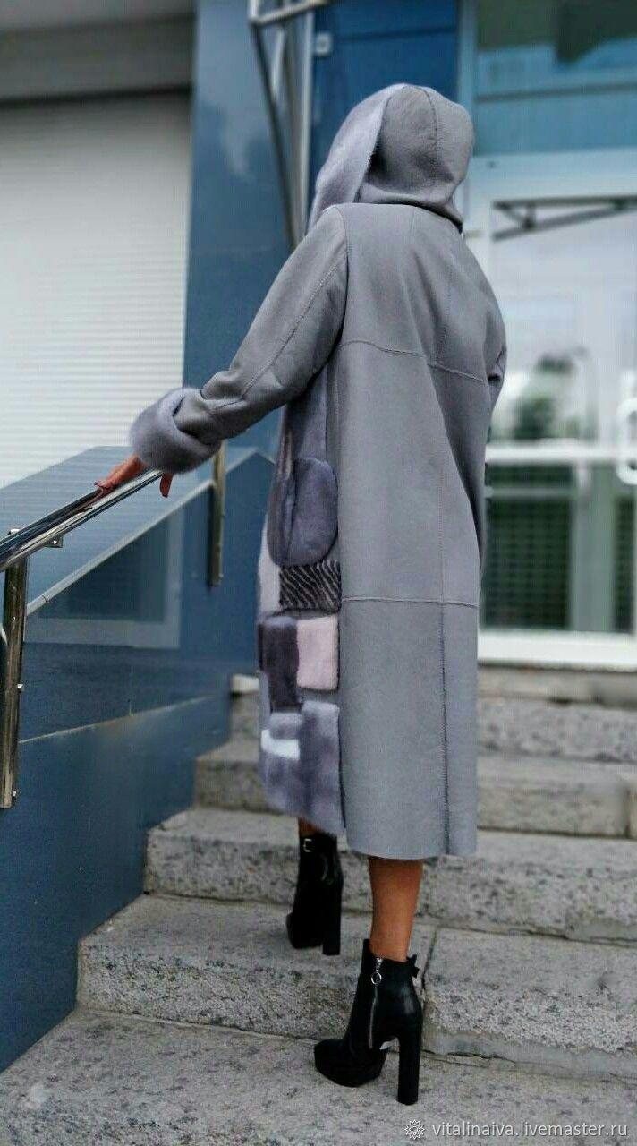 9576ba2a Верхняя одежда ручной работы. Дублёнка с норкой Сапфир. VITALINA IVA.  Ярмарка Мастеров. Пошив одежды, пошив одежды на заказ