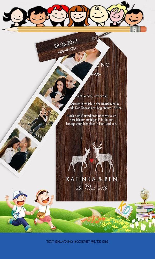 Large 19 Text Einladung Hochzeit Wilde Ehe Wedding Book Cover Concept