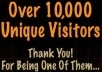 I will send 10,000 real country TARGETED visitors to your website  for $10