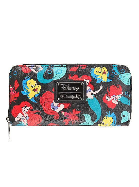 Disney Loungefly The Little Mermaid Toss Character Zip Wallet,