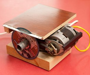 Mini circular bench saw from scrap updated electric for Electric motor for bandsaw