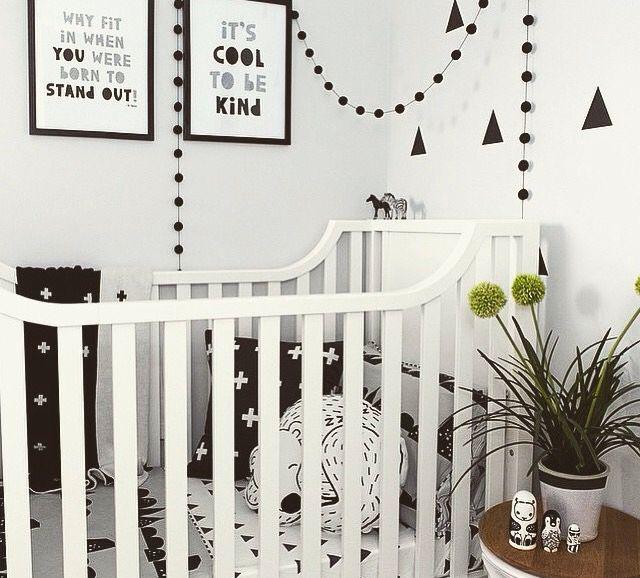Monochrome nursery looks fantastic.