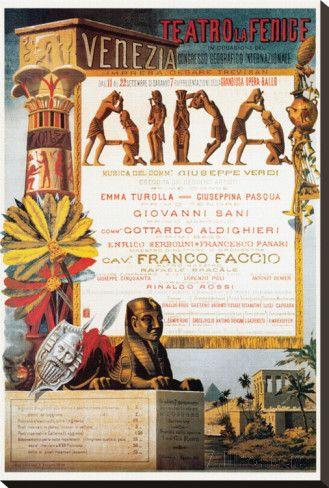 Verdi, Teatro La Fenice, Aida Stretched Canvas #Aida #Verdi #Opera