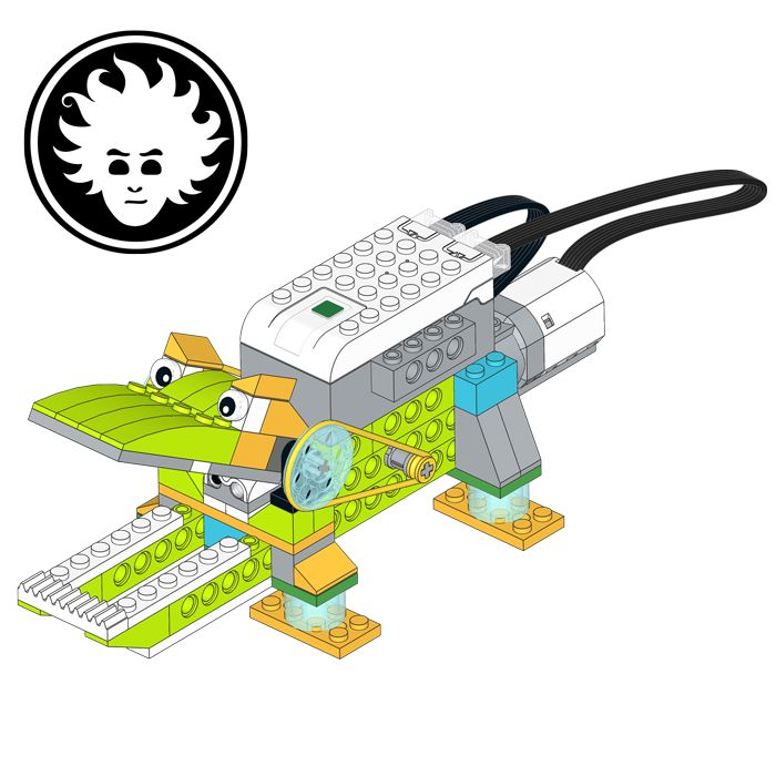 A Lego Wedo 2 0 Crocodile That Bites Whatever Ends Within Its Jaws Lego Wedo Lego Lego Program