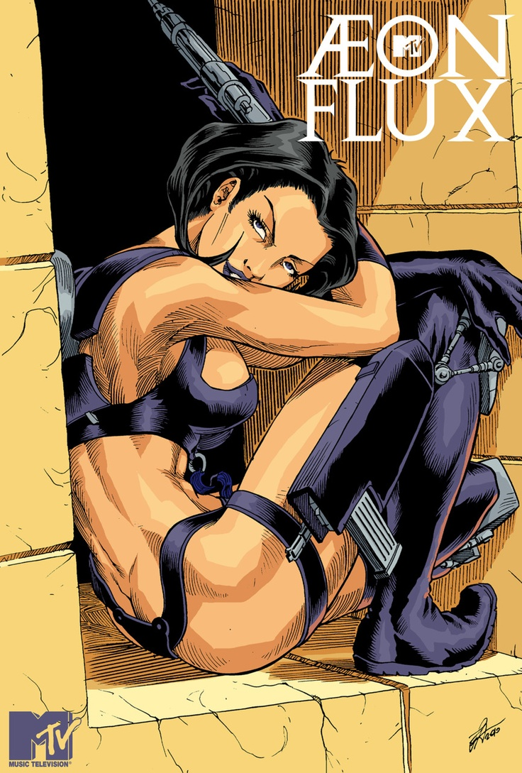 Aeon Flux. This old MTV show always made me feel high even though i wasn't.