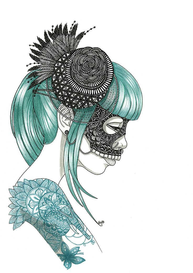 Lady blue. Masks series https://www.behance.net/eivanafer51df