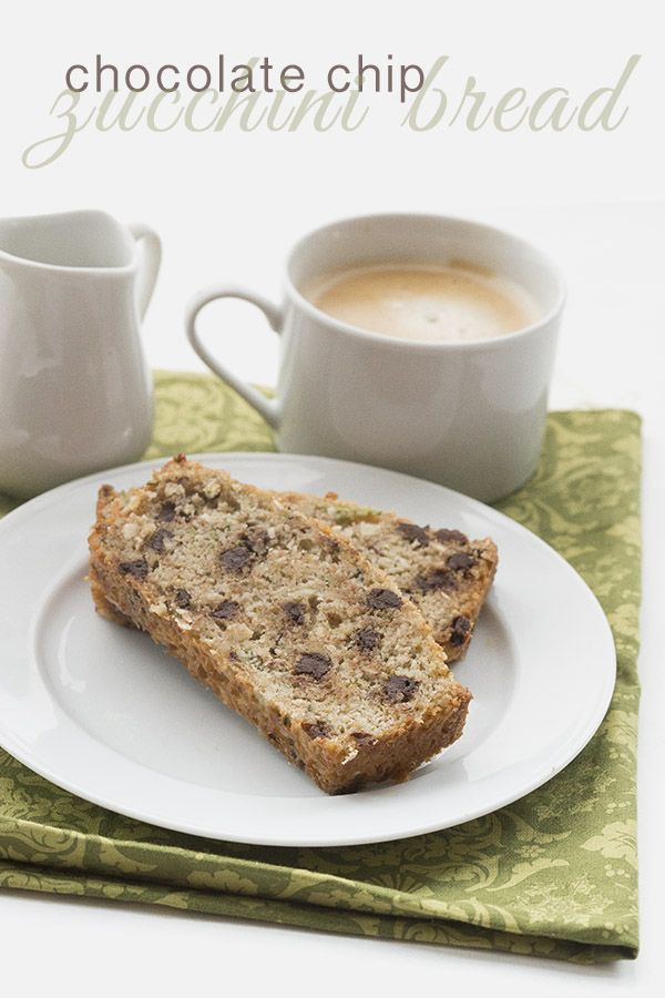 Simply the BEST low carb paleo chocolate chip zucchini bread recipe. Dairy-free Grain-Free THM LCHF Banting Atkins