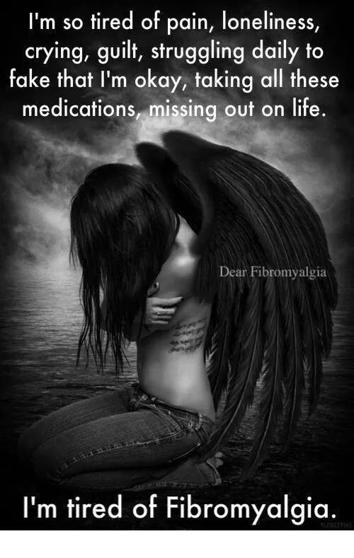 Have compassion fibro people don't even show 2% of what they go through daily.