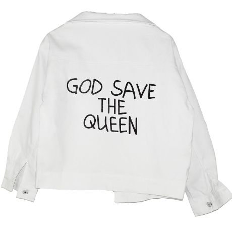 GOD SAVE THE QUEEN DENIM JACKET $29,40