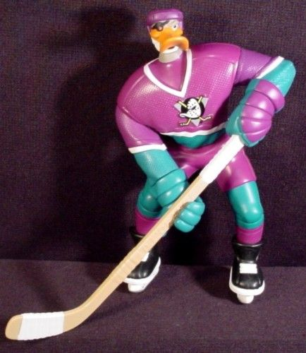 Duke L'Orange Slapshot Action Figure Mighty Ducks 6 Inch 1996 Disney Mattel