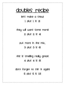 Math Doubles Song--have the kids come up with little rhymes for the larger numbers