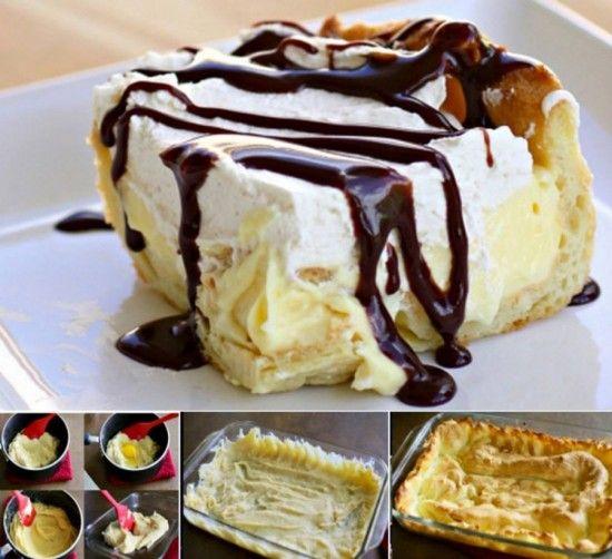 Chocolade taart eclair
