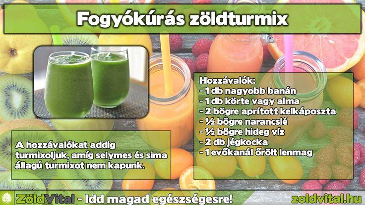 Fogyókúrás zöldturmix recept!