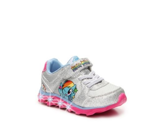 Women's My Little Pony Pixie Girls Toddler Light-Up Sneaker - Silver/Pink