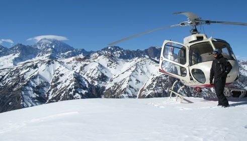 Helicopter ski holidays in Chile