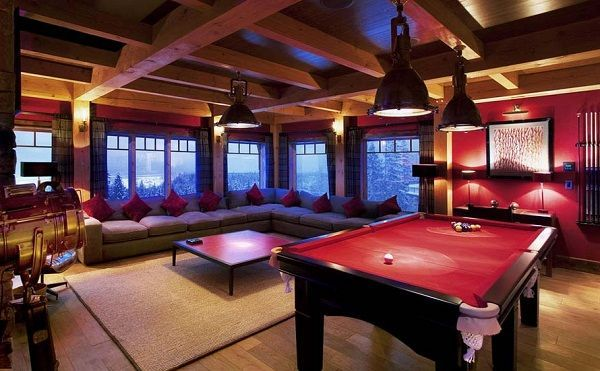Pool Table Room Ideas Pool Table Room In Red Theme