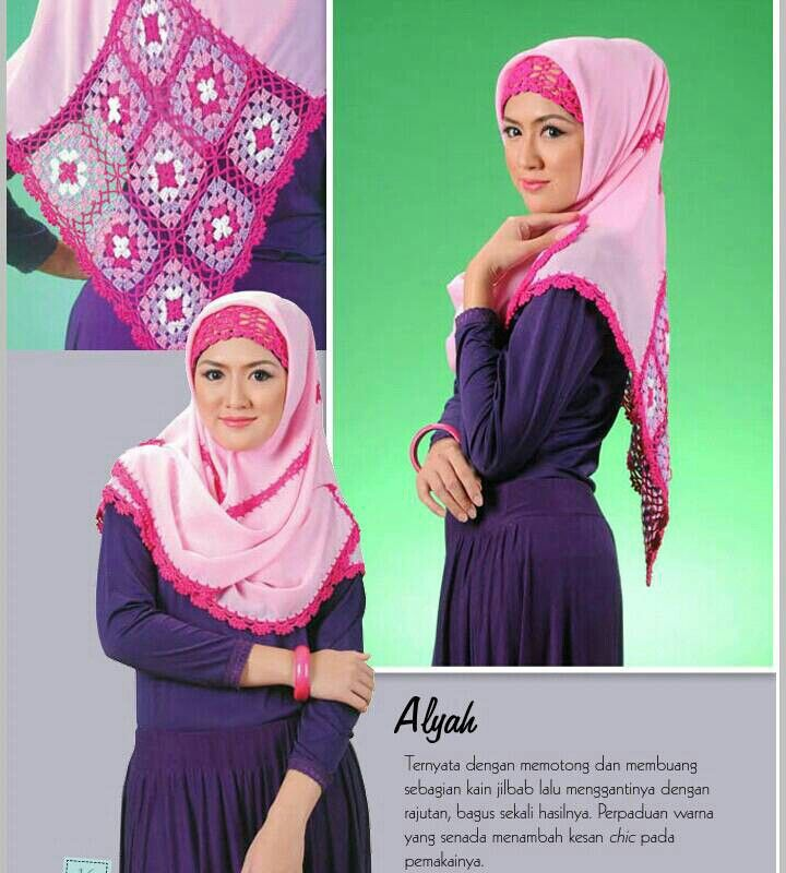 Hijab Rajut ALYAH (Kerudung segi empat)