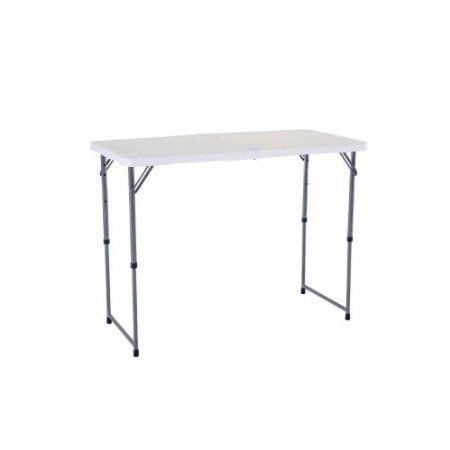amazoncom lifetime 4 foot adjustable height folding utility table patio
