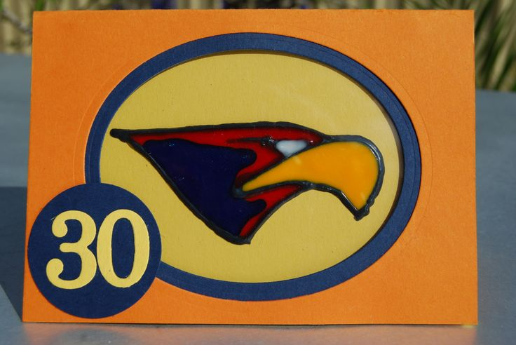 West Coast Eagles card made for a friends sons 30th birthday. I made a removable suncatcher so he can put it on a window/ fridge etc -https://www.facebook.com/NicoleWilsonStamp