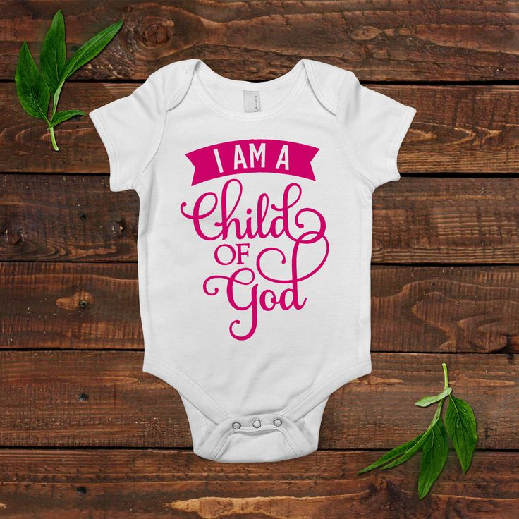 Baby Girl Shirt - Pink Baby Outfit - I am a child of God - Newborn Baby Girl Gift by JoyfulMoose on Etsy https://www.etsy.com/listing/256577330/baby-girl-shirt-pink-baby-outfit-i-am-a