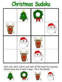 Christmas Sudoku Puzzles...I am not a fan of these type puzzles, but it does work your brain..I figured it out! Woohoo