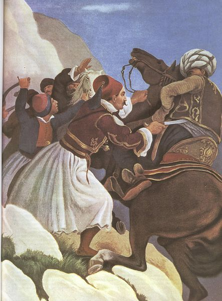 Nikitaras- Greek Independence War - 1821 by Peter von Hess.