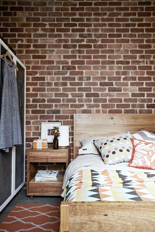 exposed brick #bedroom