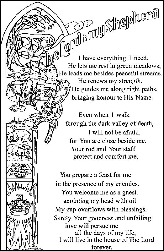 23 Psalm Coloring Pages Google Search Super Coloring