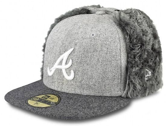Melton Atlanta Braves Dog Ear 59Fifty Fitted Cap By NEW ERA x MLB ... 4fdc881a709
