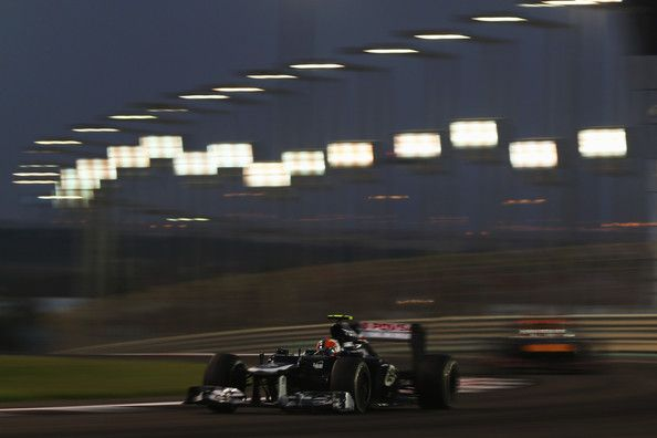 Bruno Senna of Brazil and Williams drives during the Abu Dhabi Formula One Grand Prix