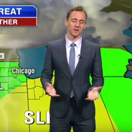 Tom Hiddleston Crashes Chicago Weather Report, Can't Stop Blaming Everything on Thor