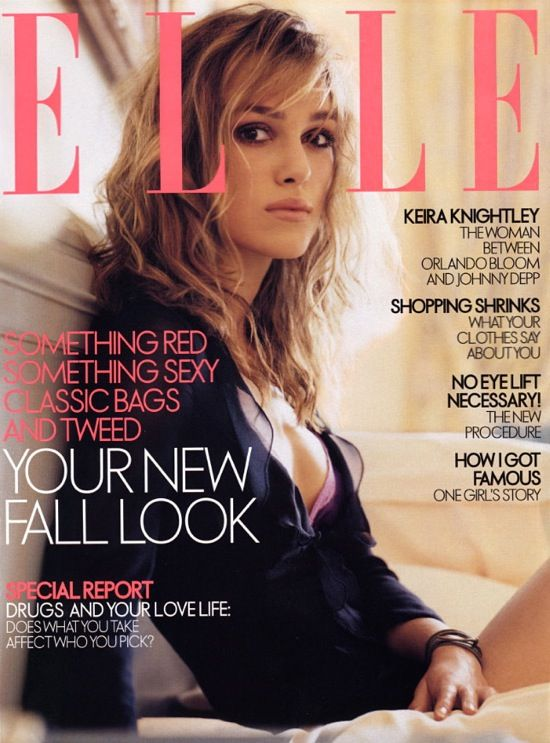 Keira Knightley, for Elle US | 2003It, Covers, Clothing, Hair And Makeup, Kiera Knightley, People, Keira Knights Skinny, Keira Knightley Hair