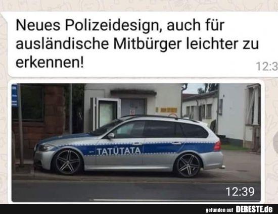 Neues Polizeidesign, auch für ausländische Mitbürger leichter zu erkennen! – Kathrin Ros