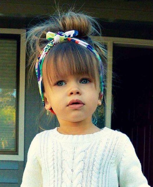 Hairstyles for kids with accesories - Lindo peinado para niñas con accesorios (banda o pañoleta)