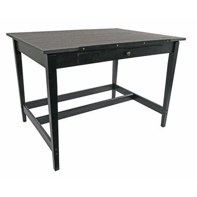 Alvin and Co. Vanguard Drawing Room Wood Drafting Table Finish: Black Ash