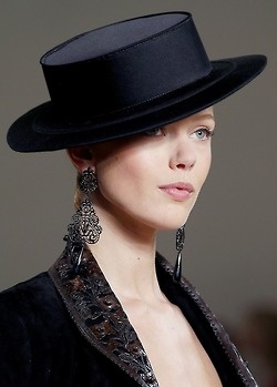 Frida Gustavsson at Ralph Lauren 2013  always love black ... <3 www.24kzone.com