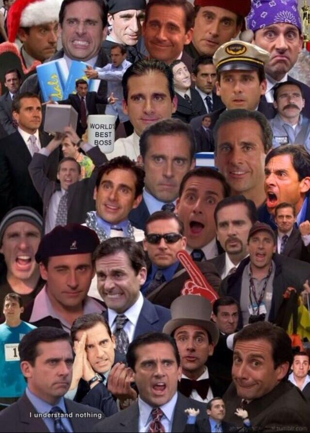 michael scott. The longer you look, the funnier it gets.