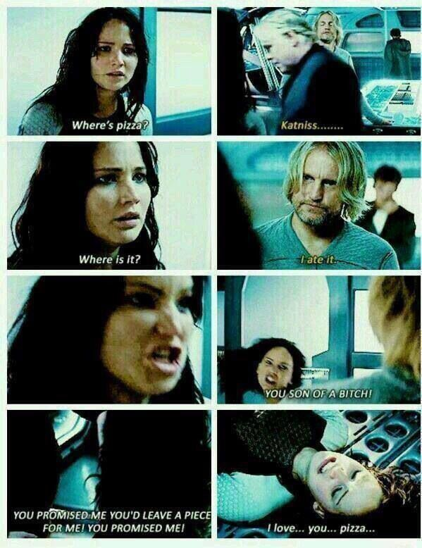 110 best hunger games images on pinterest ha ha funny stuff and katniss everdeen the hunger games haymitch peeta mellark pizza catching fire voltagebd Gallery