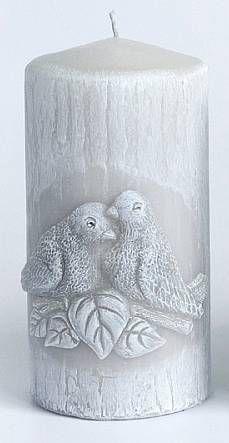 Svíčka s ptáčky