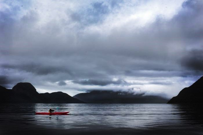 kayak en canales australes