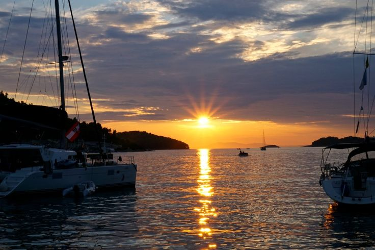 Island Hopping in Croatia - sunset