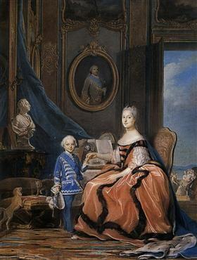 Marie Josephe of Saxony, Dauphine and a son - Maurice Quentin de La Tour
