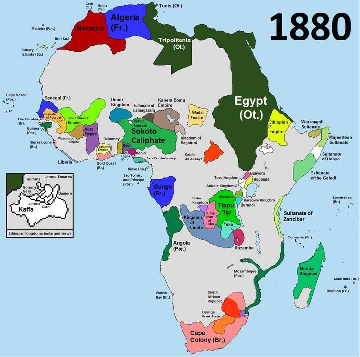 Africa 1880 Africa Map African History History
