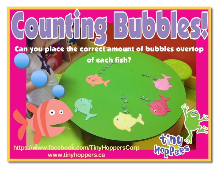 This fishy activity helps works on number recognition and counting.  Cut out some fish shapes and program them with numbers.  Purchase clear...
