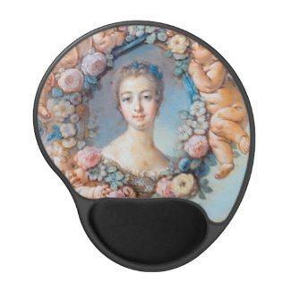 Madame de Pompadour François Boucher rococo lady Gel Mousepads #madame #pompadour #pastel #portrait #boucher #Paris #France #classic #art #custom #gift #lady #woman #girl