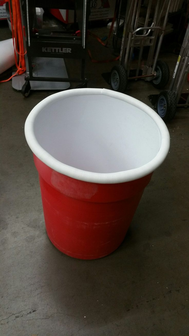 Giant Beer Pong- liner to make it look like solo cup